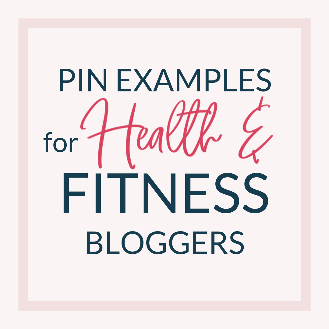 Pins for Health and fitness bloggers