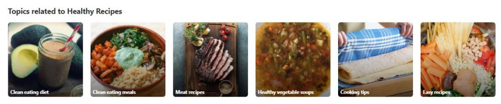 Pinterest topics related to Healthy Recipes